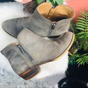 Lucky Brand Shoes - Lucky Brand | gray suede ankle boots sz 10M